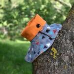 Kaelussall trikotaažist, oranž, 1-3 aastat