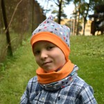 Trikotaažmüts, oranž, 51-54 cm